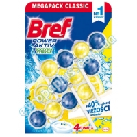 Туалетний блок Bref WC Power Active 3X50 gr Lemon 4 in 1