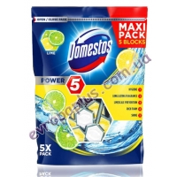 Туалетні блоки Domestos Power Maxi 5x55g lemon