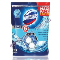 Туалетні блоки Domestos Power Maxi 5x55g ocean